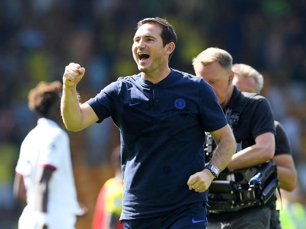 Lampard thỏa mãn với trận thắng đầu tay ở Ngoại Hạng Anh