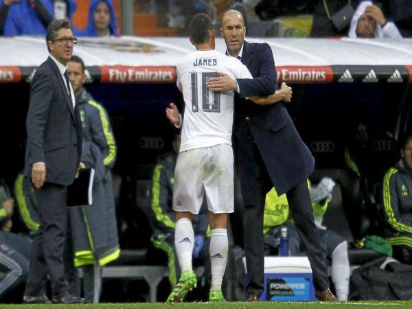James trần tình về mối quan hệ với Zidane