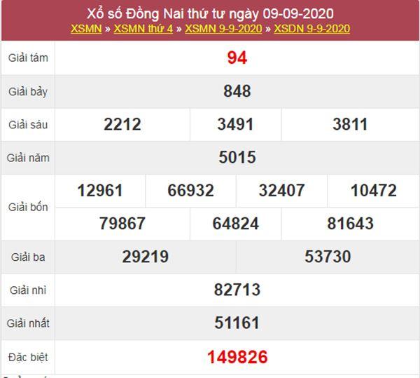 Soi cầu KQXS Đồng Nai 16/9/2020 thứ 4 cực chuẩn