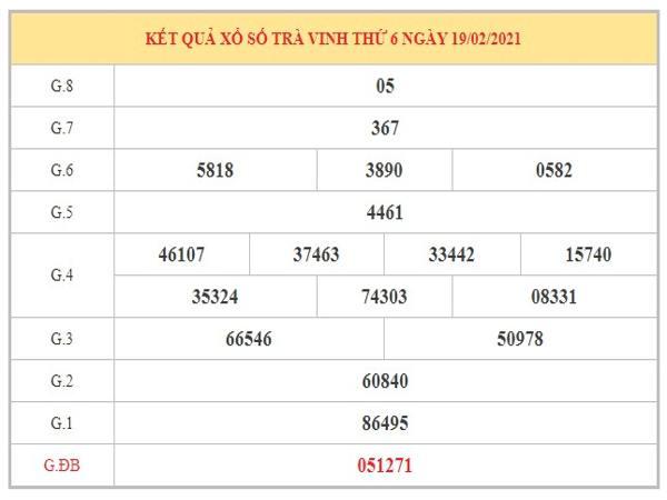 Nhận định KQXSTV ngày 26/2/2021 dựa trên kết quả kỳ trước