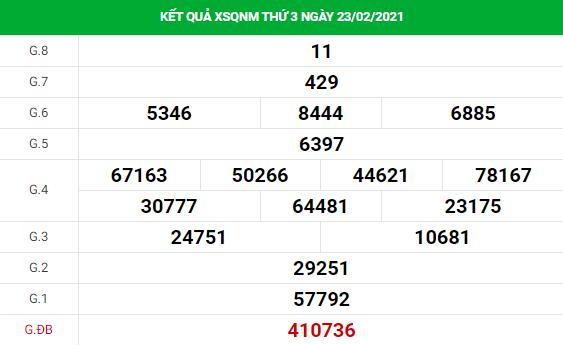 Soi cầu dự đoán XS Quảng Nam Vip ngày 02/03/2021