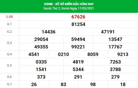 Soi cầu dự đoán XSMB 18/5/2021 Vip chính xác nhất